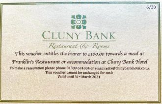 Gift Voucher - Cluny Bank