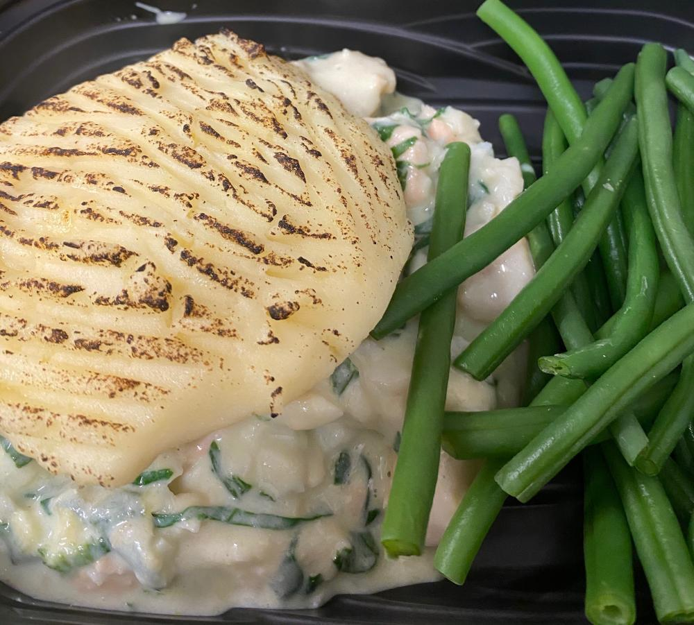 Fish Pie with Green Beans
