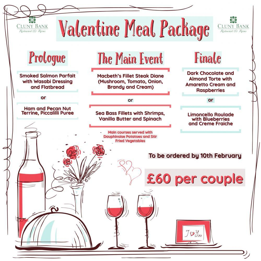 Valentine Meal Package - Cluny Bank